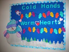 Warm Winter bulletin board idea