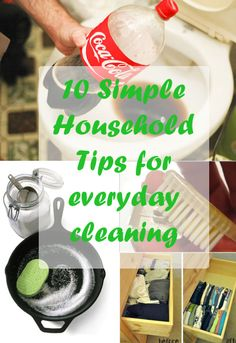10 Simple Household Tips for everyday cleaning  http://wp.me/p4ercK-gk. For more ideas visit https://www.facebook.com/homemadeandhandmademumbai