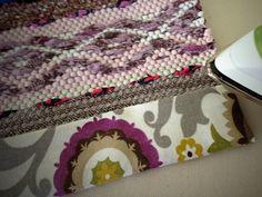 5 Steps to make bound hems on rag rugs.