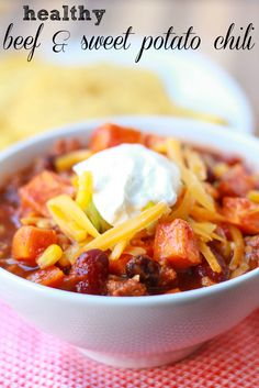 Healthy Beef and Sweet Potato Chili