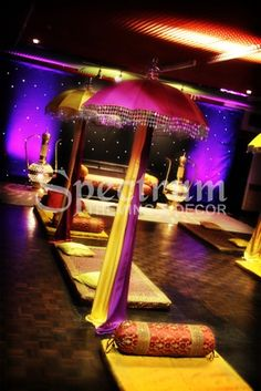 Very cool set up for the mehndi/quali night x