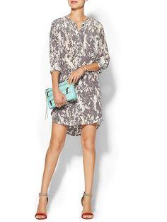 Piperlime Collection Printed Silk Dress - Tornado marshmallow camo