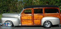"""Woody"" station wagons featured bodies finished in varnishes that required recoating. Even the bolts and screws required periodic tightening as wood expanded and contracted through the seasons.  This beautiful 1948 Ford Woody is well worth all the upkeep."