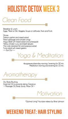My holistic detox week 3