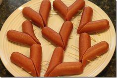 Heart Hot Dogs.