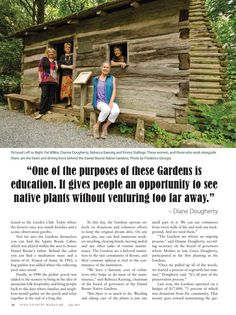 Daniel Boone Native Gardens celebrates 50 years, High Country Magazine July 2013. #horninthewest #danielboonepark #boonenc