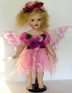Fairy Porcelain Dolls-Fairy Dolls-Angel Porcelain Dolls-FAIRY Porcelain Doll By Cathay Collection-Betty