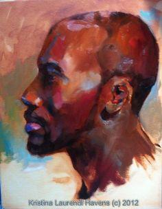 Alla prima portrait profile by Kristina Laurendi Havens