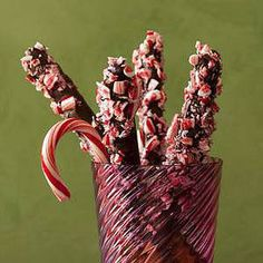 Chocolate-Peppermint Pretzel Rods