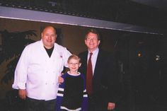 Chef Jim and his son with Attorney General, Mike DeWine. son