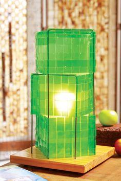 Luminária de garrafa PET - Portal de artesanato