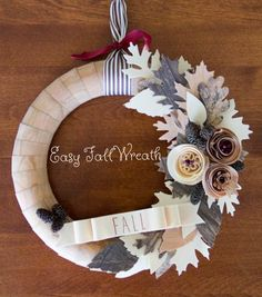 Easy Wood Fall Wreath Tutorial from @joannstores