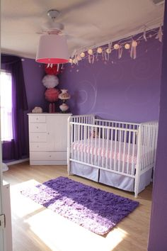Will your baby girl's favorite color be #purple? #nursery