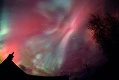 The Northern Lights from Deeside, Scotland