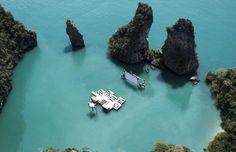 Dive-in movie theater. Kudu Island, Thailand