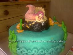 Coolest Little Mermaid Cake... This website is the Pinterest of birthday cake ideas
