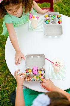 Easter Sundae Kits- What a great thing to have our for kids at an Easter brunch!