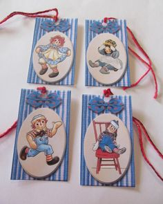 Vintage Raggedy Ann & Raggedy Andy Gift/HangTags  by Doris2618, $3.00