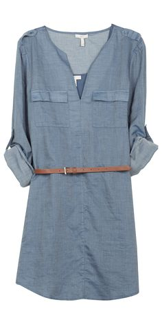 JOIE Rathana Dress Prairie Blue | Denim Shirt Dress