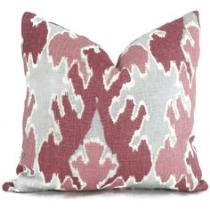 Kelly Wearstler Amethyst Ikat Pillow 18x18, 20x20, 22x22, Eurosham or Lumbar Pillow, Radiant Orchid, Lee Jofa Bengal Bazaar, Throw Pillow,