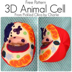 Pickled Okra by Charlie: Free Sewing Pattern: Animal Cell Softie