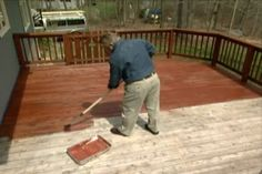 How to Restore and Maintain a Deck Learn how to give your deck an instant makeover; includes details on pressure washing, using a deck brightener, stain and water sealant. Big help for me!!!
