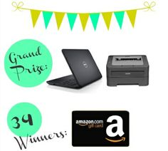 Birthday Giveaway:: Win a new Laptop & Printer or over $1000 in Amazon Gift Cards!!