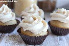 Vanilla Chai Cupcakes with Chai Spiced Buttercream