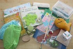 sensory tubs, frog, unit studies, art, felt boards, pond life, count coconut, mini unit, pond unit