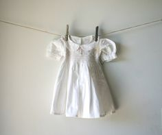 1) Something vintage:  Vintage smocked flower girl dress - too precious!  #modcloth  #wedding