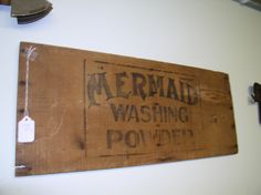 Must have! Old wooden laundry sign by TrinketnTreasure on Etsy. $15.00, via Etsy.