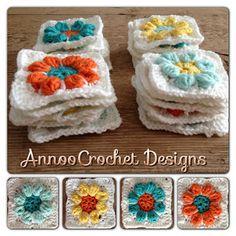 Annoo's Crochet World: Spring Flower Granny Free Pattern found via Tangled Happy