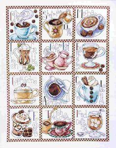 "Counted Cross Stitch kit 12"" x 16"" COFFEE BREAK"