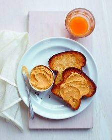 Pumpkin Spread - mix leftover pumpkin puree with butter, maple syrup, and pumpkin pie spice to make a delicious toast topping