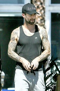 Welcome to the gun show, y'all! Adam Levine's tattoos were on full display in Beverly Hills yesterday!