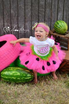 Watermelon Birthday Tutu, First Birthday baby tutu, Photo Prop Tutu, Childrens Toddler tutu, Birthday, hot pink lime green watermelon tutu on Etsy, $38.00