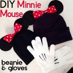mickey mouse, diy beanie, diy minni, mous beani, minnie mouse, glove, beanie hats, minni mous, beani hat