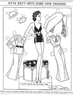 ETTA KETT Gets Some New Dresses,  4-8-33