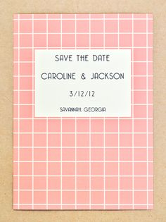 Retro save the dates.