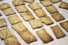 """homemade olive oil and rosemary """"wheat thins"""""""