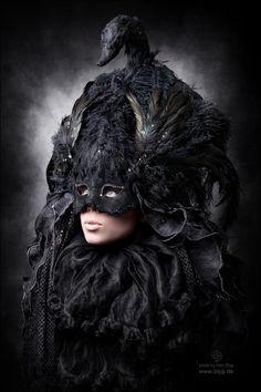 Nighttime bird by Alex-Blyg  #Photography #Portraits #Black #Fantasy #Dark #bird