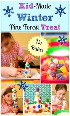 No-Bake Winter Pine Forest Treats