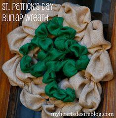 Saint Patrick's Day Burlap Wreath | Amanda Jane Brown