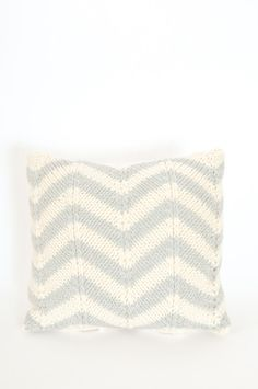 Chevron Throw Pillow by Koromiko