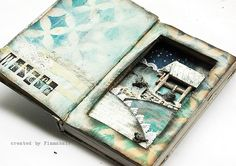 "altered book - ""Winter"""