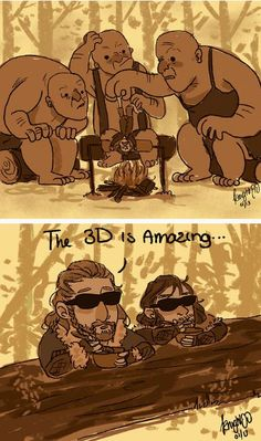 Fili and Kili were on the side watching all along ...  Kili, dwarf, The Hobbit, Tolkien, Bilbo Baggins, Fili, Bilbo,  hobbit