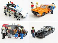 Eighties legends in Lego. I wish lego actually made these!