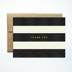 Stripes Thank You Cards, set of 8