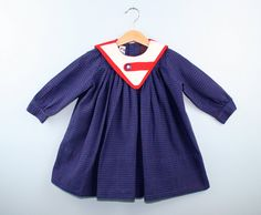 Vintage Dress by Monday's Child 1970s Size 2T