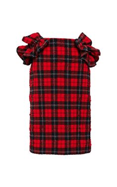 Ruffled Tartan-Plaid Skirt by Simone Rocha Now Available on Moda Operandi